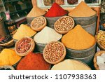 selection of traditional spices ... | Shutterstock . vector #1107938363