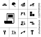 build icon. collection of 13... | Shutterstock .eps vector #1107939290