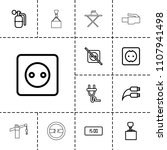 cable icon. collection of 13... | Shutterstock .eps vector #1107941498