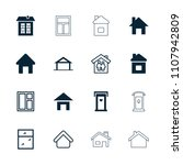 residence icon. collection of...   Shutterstock .eps vector #1107942809
