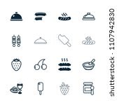 gourmet icon. collection of 16...   Shutterstock .eps vector #1107942830