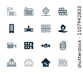 residential icon. collection of ... | Shutterstock .eps vector #1107942833