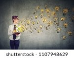 side view of young business... | Shutterstock . vector #1107948629