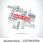 floating graphic design words... | Shutterstock .eps vector #1107963554