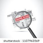 graphic design word background... | Shutterstock .eps vector #1107963569