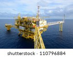 the offshore oil rig in the... | Shutterstock . vector #110796884