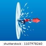 businessman holding arrow... | Shutterstock .eps vector #1107978260
