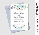 flower soft color  wedding... | Shutterstock .eps vector #1107984473