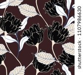 abstract elegance pattern with... | Shutterstock .eps vector #1107986630