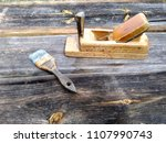 old vintage joinery tools on a... | Shutterstock . vector #1107990743