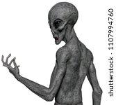 grey alien exploring around 3d... | Shutterstock . vector #1107994760