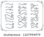 set of hand drawn elements... | Shutterstock .eps vector #1107994979