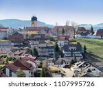 schwarzwald houses and... | Shutterstock . vector #1107995726