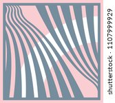 silk scarf with curves lines on ... | Shutterstock .eps vector #1107999929