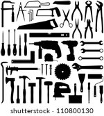 construction tool collection  ... | Shutterstock .eps vector #110800130