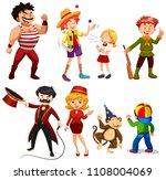 set of various circus...   Shutterstock .eps vector #1108004069