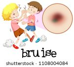young boys fighting with...   Shutterstock .eps vector #1108004084