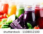 food and drinks  selection of... | Shutterstock . vector #1108012100