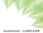 palm summer scenery background | Shutterstock .eps vector #1108012208