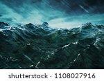 3d rendering ocean wave with...   Shutterstock . vector #1108027916