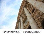 basilica of st. peter  italy ... | Shutterstock . vector #1108028000