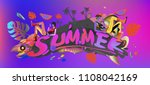 vector colorful summer banner.... | Shutterstock .eps vector #1108042169
