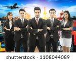 business teamwork crossed arm... | Shutterstock . vector #1108044089