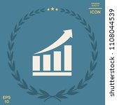 growing bars graphic icon with... | Shutterstock .eps vector #1108044539