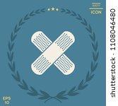 cross adhesive bandage  medical ... | Shutterstock .eps vector #1108046480