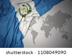 waving colorful national flag...   Shutterstock . vector #1108049090