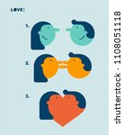 love stage. meeting and kiss.... | Shutterstock .eps vector #1108051118