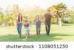 group of family happy holiday... | Shutterstock . vector #1108051250