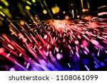 colorful bokeh lights on black... | Shutterstock . vector #1108061099