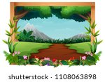 illustration of nature... | Shutterstock .eps vector #1108063898
