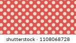 retro red and light beige or... | Shutterstock .eps vector #1108068728