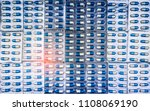 blue and white capsules pill in ... | Shutterstock . vector #1108069190