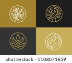 natural cosmetics  logo. brand... | Shutterstock .eps vector #1108071659