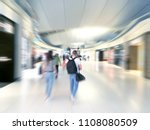traveler walking at the airport ... | Shutterstock . vector #1108080509