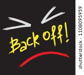 back off    emotional... | Shutterstock .eps vector #1108095959