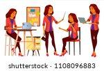 office worker. woman. modern... | Shutterstock . vector #1108096883