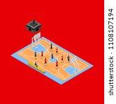basketball field 3d isometric... | Shutterstock .eps vector #1108107194