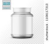 clear glass medicine bottle... | Shutterstock .eps vector #1108117313