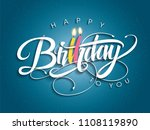 happy birthday greeting card... | Shutterstock .eps vector #1108119890