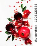 fresh pomegranate juice in... | Shutterstock . vector #1108120898