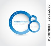 stylish digital vector design.... | Shutterstock .eps vector #110812730
