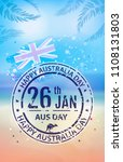 holiday poster on the day of... | Shutterstock .eps vector #1108131803
