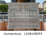 the obelisk of theodosius is... | Shutterstock . vector #1108148099