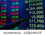 stock market graph analysis.... | Shutterstock . vector #1108149119