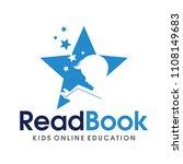 children smart reading logo... | Shutterstock .eps vector #1108149683