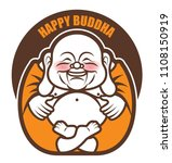 cute chubby happy laughing... | Shutterstock .eps vector #1108150919